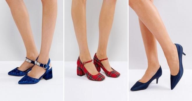 Женская обувь на низком каблуке – особенности и преимущества